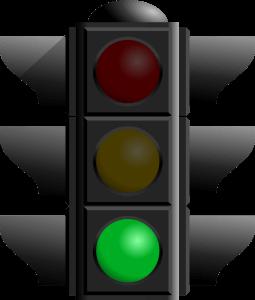 Stock photo of green traffic light