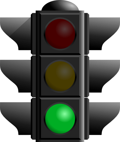 Stock photo of green traffic light